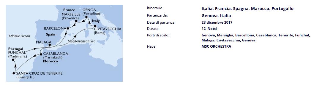 msc itinerario